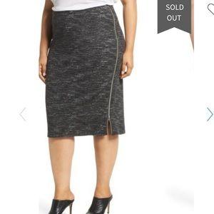 New Halogen side zip ponte pencil skirt